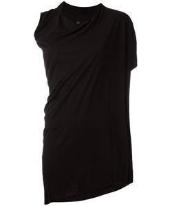 Rick Owens Lilies | Asymmetric Draped T-Shirt 44 Viscose/Polyamide/Cotton
