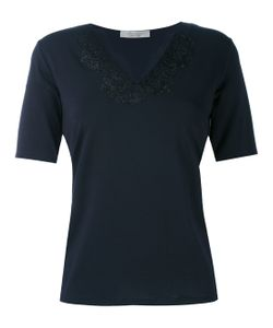 D.exterior | Lace Appliqué V-Neck T-Shirt