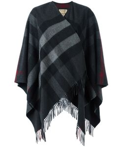 Burberry | Fringed Knitted Poncho Cashmere/Merino