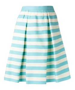 Red Valentino | Pleat Detail Striped Skirt Size