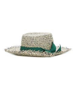 Sensi Studio | Frayed Tweed Boater Hat Medium Cotton