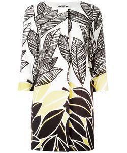 Herno | Leaf Print Coat 42 Cotton/Spandex/Elastane/Polyester/Acetate