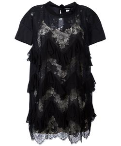 Twin-set | Ruffled Trim Lace Dress 42 Polyester/Polyamide/Cotton