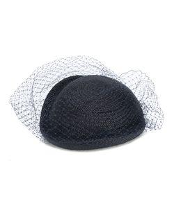 FEDERICA MORETTI | Veil Embellished Woven Hat