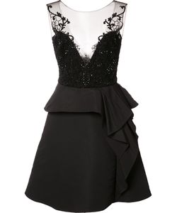 Marchesa Notte | Embroide Top Dress 8 Polyester