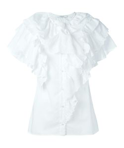 Givenchy | Broderie Anglaise Trim Ruffle Top 36 Cotton