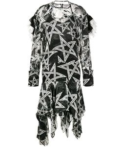 Preen By Thornton Bregazzi | Alena Star Print Asymmetric Dress