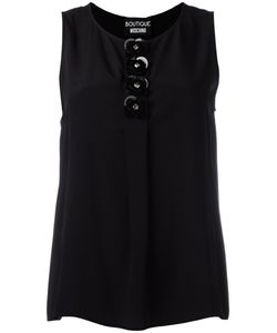 BOUTIQUE MOSCHINO | Embellished Sleeveless Top 46 Silk/Rayon