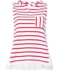 Semicouture | Striped Sleeveless Top M