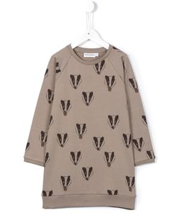 Mini Rodini | Badger Print Sweater Dress 11 Yrs
