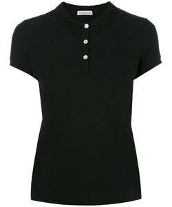 Moncler | Cut Out Collar Polo Shirt Medium Cotton