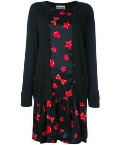 Moschino | Heart Print Cardigan Dress Size 40