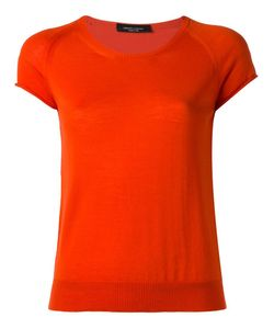 Roberto Collina | Round Neck Knitted T-Shirt Medium Merino