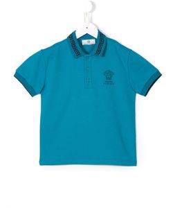 Young Versace | Medusa Greca Polo Shirt 10 Yrs