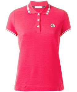 Moncler | Striped Trim Polo Shirt Xs Cotton