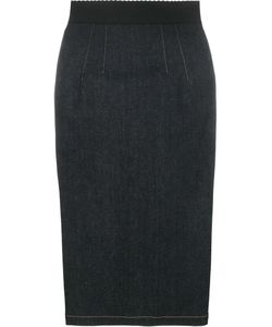 Dolce & Gabbana | Denim Pencil Skirt 44 Cotton/Polyester/Spandex/Elastane
