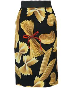 Dolce & Gabbana | Pasta Print Pencil Skirt