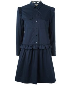Burberry | Ruffle Trim Shirt Dress 12 Cotton