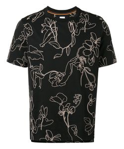 Paul Smith   Embroidered Trim T-Shirt Size Large