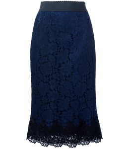 Dolce & Gabbana | Lace Skirt 42 Silk/Cotton/Polyamide/Spandex/Elastane