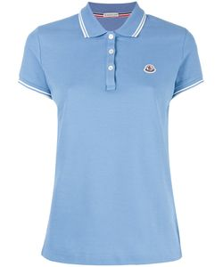 Moncler | Striped Trim Polo Shirt Small Cotton