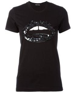 Markus Lupfer | Sequin Embellished Lip T-Shirt