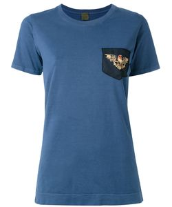 MR & MRS Italy | Embedded Eagle Embroidered T-Shirt Size 42