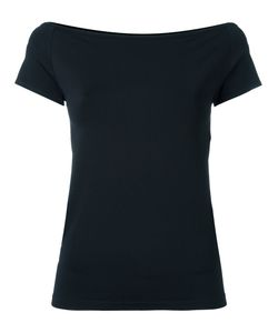 Helmut Lang | Off Shoulders Blouse Medium Nylon/Spandex/Elastane