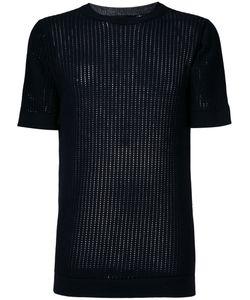 Diesel Black Gold | Ladder Stitch Rib Knit Top Size Small