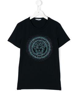 Young Versace | Rhinestone Medusa T-Shirt 14 Yrs