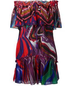 Roberto Cavalli   Abstract Print Off-Shoulders Dress 44