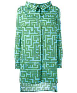 Ultràchic | Maze Patterned Sheer Shirt 42 Cotton/Spandex/Elastane