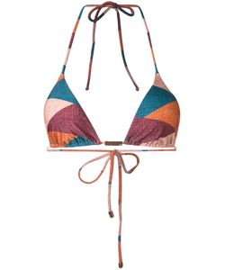 VIX | Geometric Print Bikini Top Size Medium