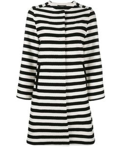 Odeeh | Horizontal Stripe Coat 38 Cotton