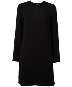 Theory | Deep V Neck Dress Small Polyester/Triacetate