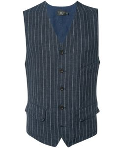 RRL | Pinstripe Vest Medium Linen/Flax