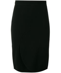 Givenchy | Curved Front Pencil Skirt 36 Viscose/Acetate/Polyamide/Silk