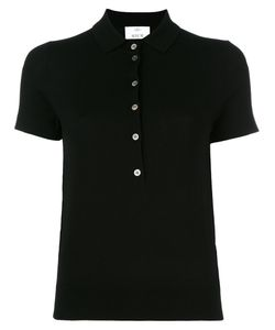 Allude | Knitted Short Sleeve Polo Shirt Small Virgin