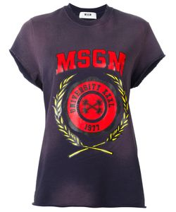 MSGM | Print T-Shirt Xs Cotton