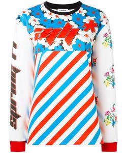 Au Jour Le Jour | Contrast Print T-Shirt 42 Spandex/Elastane/Polyester/Polyamide