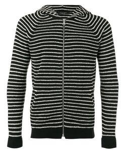 Roberto Collina   Striped Hoodie Size 52