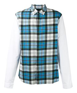 J.W. Anderson   J.W.Anderson Panelled Checked Shirt Size 46