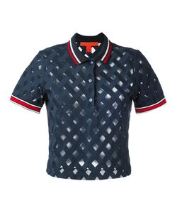 Hilfiger Collection | Sheer Ribbed Polo Top