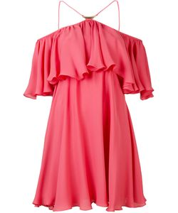 Plein Sud | Shift Frill-Trim Dress