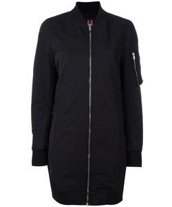 RICK OWENS DRKSHDW | Midi Bomber Jacket Medium Cotton/Polyamide