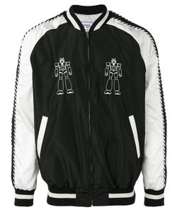 Lc23   Robot Embroidered Bomber Jacket