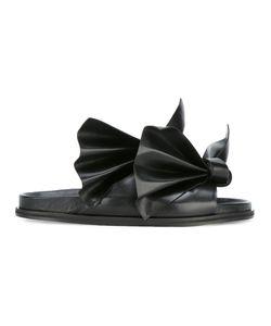 Cedric Charlier   Cédric Charlier Bow Detail Sandals 38 Calf Leather/Leather/Polyurethane
