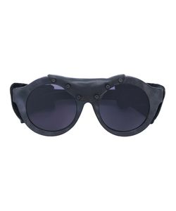 KUBORAUM   Sunglasses With Leather Effect