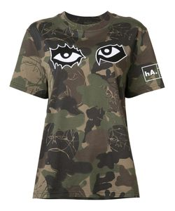 HACULLA | Camouflage Eye Print T-Shirt Size Small