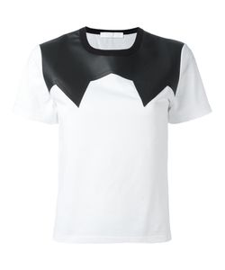 Neil Barrett | Leather Effect Panel T-Shirt Size Small